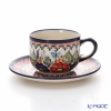 Polish Pottery Boleslawiec '149AR-GU886/883' Tea Cup & Saucer 210ml
