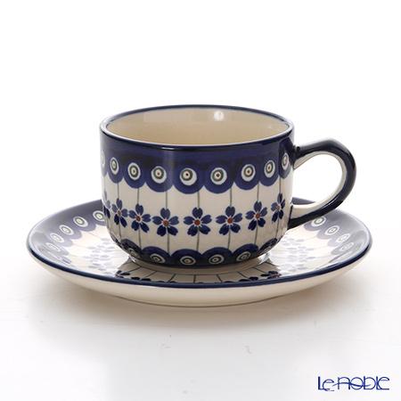 ポーリッシュポタリー(ポーランド陶器) ボレスワヴィエツティーカップ&ソーサー 210ml/16cm 886/883/166A