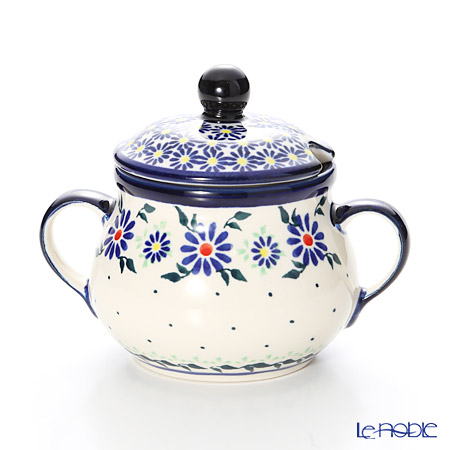 ポーリッシュポタリー(ポーランド陶器) ボレスワヴィエツシュガーボウル 250ml/9.8cm 1354/1163A