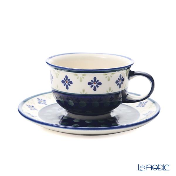 ポーリッシュポタリー(ポーランド陶器) ボレスワヴィエツ ティーカップ&ソーサー 220ml/16cm 775/836/A-297A