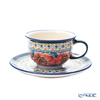 Polish Pottery Boleslawiec '775/836/ART-124' Art Collection Tea Cup & Saucer 220ml