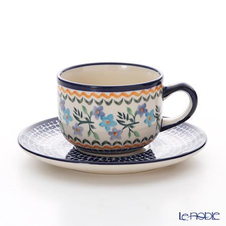 ポーリッシュポタリー(ポーランド陶器) ボレスワヴィエツ ティーカップ&ソーサー 210ml/16cm 886/883/1154A