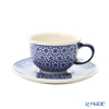 Polish Pottery Boleslawiec '775/836/D-120' Tea Cup & Saucer 220ml