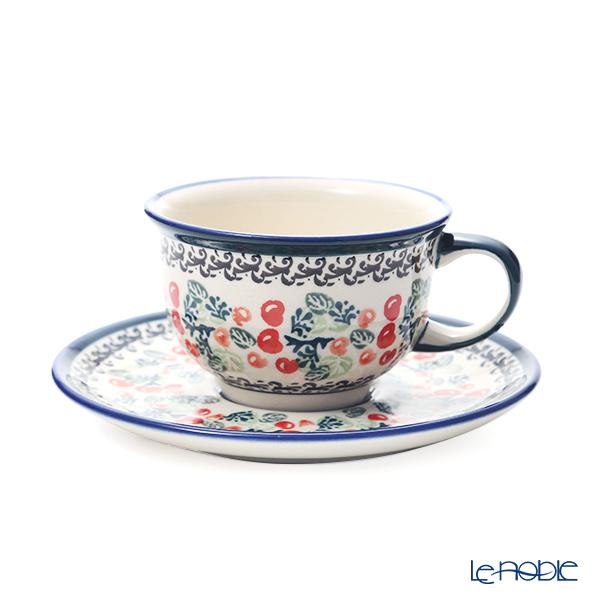 ポーリッシュポタリー(ポーランド陶器) ボレスワヴィエツ ティーカップ&ソーサー 220ml/16cm 775/836/DU-158