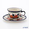 Polish Pottery Boleslawiec Tea Cup & Saucer 220ml 775/836/198AR