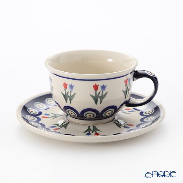 ポーリッシュポタリー(ポーランド陶器) ボレスワヴィエツ ティーカップ&ソーサー 220ml/16cm 775/836/809
