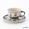 Polish Pottery Boleslawiec '809-GU775/836' Tea Cup & Saucer 220ml