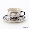 Polish Pottery Boleslawiec Tea Cup & Saucer 220ml 775/836/809