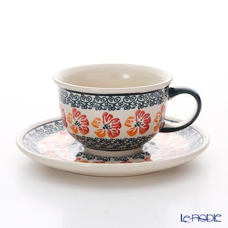 ポーリッシュポタリー(ポーランド陶器) ボレスワヴィエツ ティーカップ&ソーサー 220ml/16cm 775/836/955