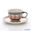 Polish Pottery Boleslawiec '955-GU775/836' Tea Cup & Saucer 220ml