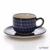 Polish Pottery Boleslawiec Tea Cup & Saucer 210ml 886/883/226A