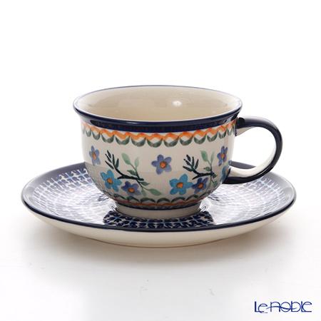 ポーリッシュポタリー(ポーランド陶器) ボレスワヴィエツ ティーカップ&ソーサー 220ml/16cm 775/836/1154A