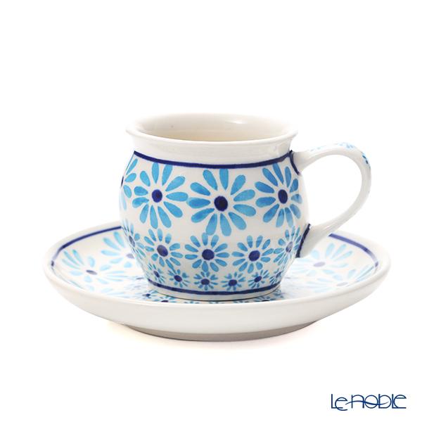 ポーリッシュポタリー(ポーランド陶器) ボレスワヴィエツ コーヒーカップ&ソーサー 160ml/14.2cm 913/710/D-966