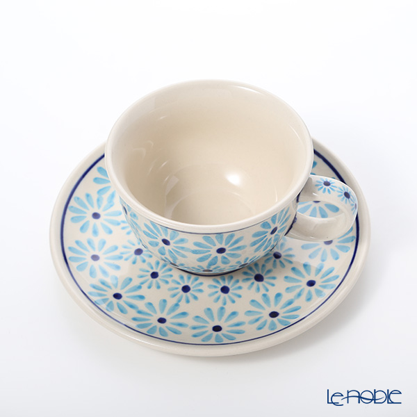Polish Pottery Boleslawiec Tea Cup & Saucer 220ml 775/836/966