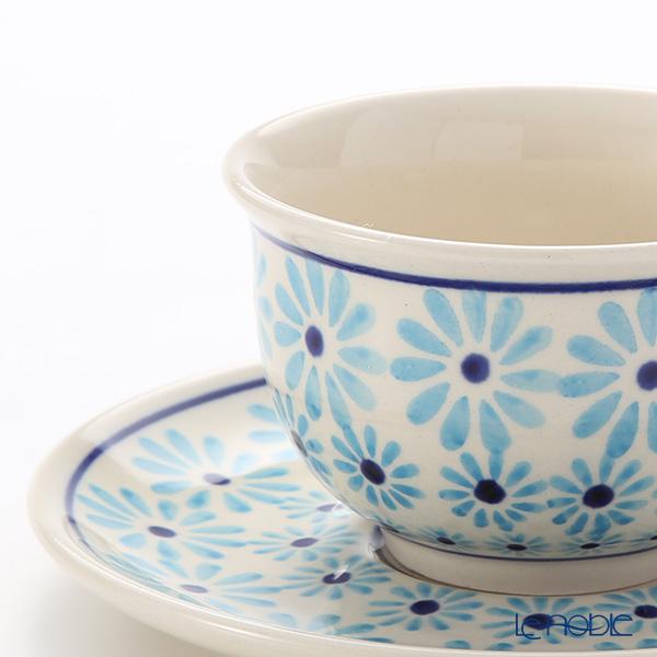 Polish Pottery Boleslawiec '966-GU775/836' Tea Cup & Saucer 220ml