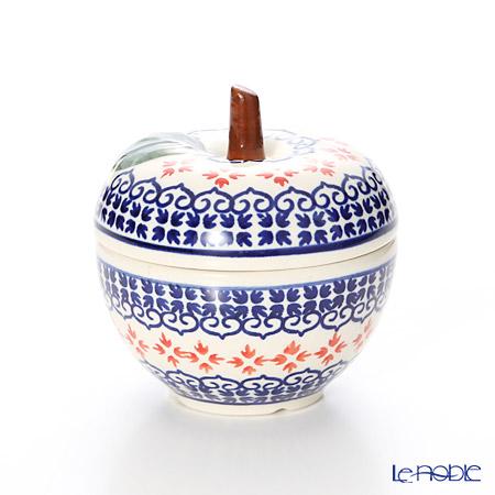 ポーリッシュポタリー(ポーランド陶器) ボレスワヴィエツキャニスター(リンゴ) 9.2cm/100ml 1899/1046