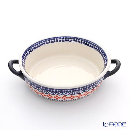 ポーリッシュポタリー(ポーランド陶器) ボレスワヴィエツ グラタン皿 18.8cm/H4.6cm 1454/1046