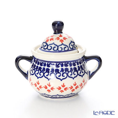 ポーリッシュポタリー(ポーランド陶器) ボレスワヴィエツシュガーボウル 50ml/7.7cm 1115/1046