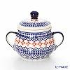 ポーリッシュポタリー(ポーランド陶器) ボレスワヴィエツシュガーボウル 250ml/9.8cm 1354/1046