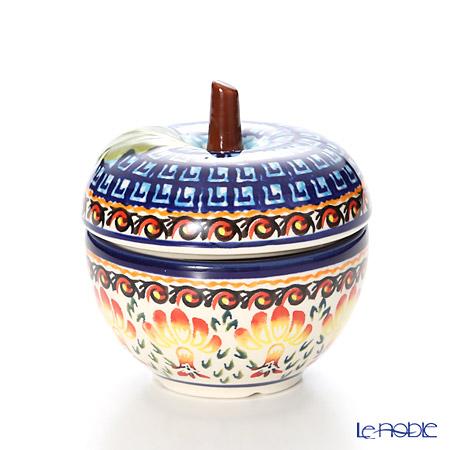 ポーリッシュポタリー(ポーランド陶器) ボレスワヴィエツキャニスター(リンゴ) 9.2cm/100ml 1899/DU184