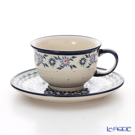 ポーリッシュポタリー(ポーランド陶器) ボレスワヴィエツ ティーカップ&ソーサー 220ml/16cm 775/836/1163A