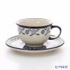 Polish Pottery Boleslawiec Tea Cup & Saucer 220ml 775/836/1163A