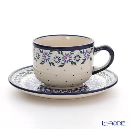 ポーリッシュポタリー(ポーランド陶器) ボレスワヴィエツティーカップ&ソーサー 210ml/16cm 886/883/1163A