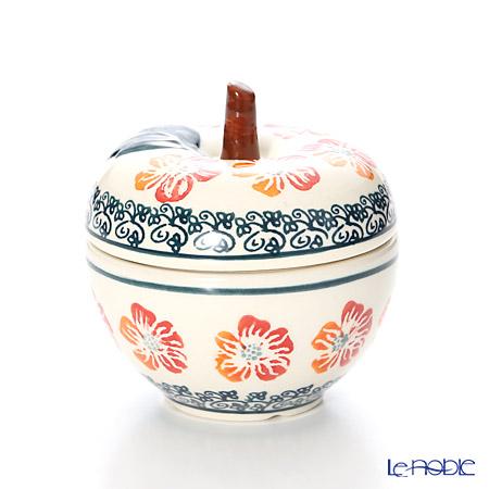ポーリッシュポタリー(ポーランド陶器) ボレスワヴィエツキャニスター(リンゴ) 9.2cm/100ml 1899/955
