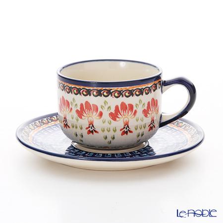 ポーリッシュポタリー(ポーランド陶器) ボレスワヴィエツ ティーカップ&ソーサー 210ml/16cm 886/883/DU184