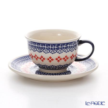 ポーリッシュポタリー(ポーランド陶器) ボレスワヴィエツ ティーカップ&ソーサー 220ml/16cm 775/836/1046