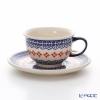 Polish Pottery Boleslawiec Tea Cup & Saucer 220ml 775/836/1046