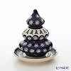 Polish Pottery Boleslawiec '200-GU1285' Candle Holder (Christmas Tree) H14.5cm