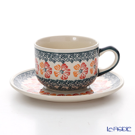 ポーリッシュポタリー(ポーランド陶器) ボレスワヴィエツ ティーカップ&ソーサー 210ml/16cm 886/883/955