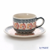 Polish Pottery Boleslawiec '955-GU886/883' Tea Cup & Saucer 210ml