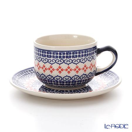 ポーリッシュポタリー(ポーランド陶器) ボレスワヴィエツティーカップ&ソーサー 210ml/16cm 886/883/1046