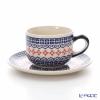 Polish Pottery Boleslawiec Tea Cup & Saucer 210ml 886/883/1046