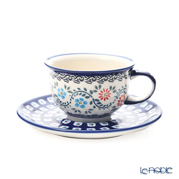ポーリッシュポタリー(ポーランド陶器) ボレスワヴィエツ ティーカップ&ソーサー 220ml/16cm 775/836/A-1145A