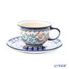 Polish Pottery Boleslawiec '775/836/A-1145A' Tea Cup & Saucer 220ml