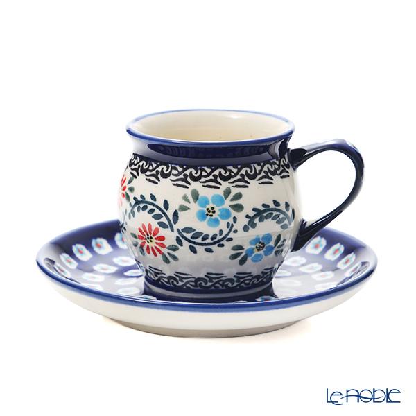 ポーリッシュポタリー(ポーランド陶器) ボレスワヴィエツ コーヒーカップ&ソーサー 160ml/14.2cm 913/710/A-1145A