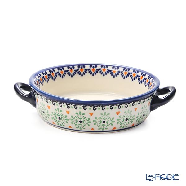 ポーリッシュポタリー(ポーランド陶器) ボレスワヴィエツ グラタン皿 18.8cm/H4.6cm 1454/A-1155A