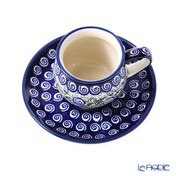 Polish Pottery Boleslawiec '913/710/A-1073A' Coffee Cup & Saucer 160ml