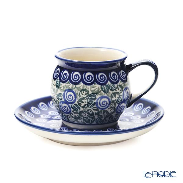 ポーリッシュポタリー(ポーランド陶器) ボレスワヴィエツ コーヒーカップ&ソーサー 160ml/14.2cm 913/710/A-1073A