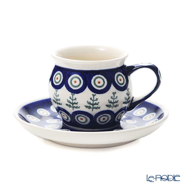 ポーリッシュポタリー(ポーランド陶器) ボレスワヴィエツ コーヒーカップ&ソーサー 160ml/14.2cm 913/710/D-312