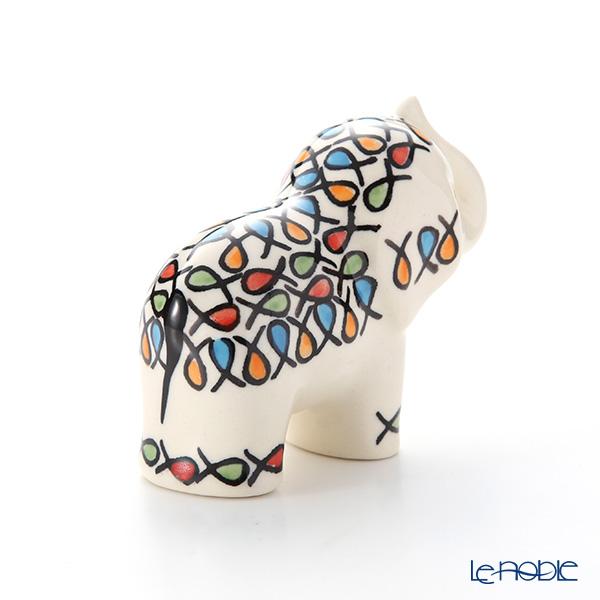 Polish Pottery Boleslawiec 'DU221-GU1874' Animal Figurine (Elephant) H8cm