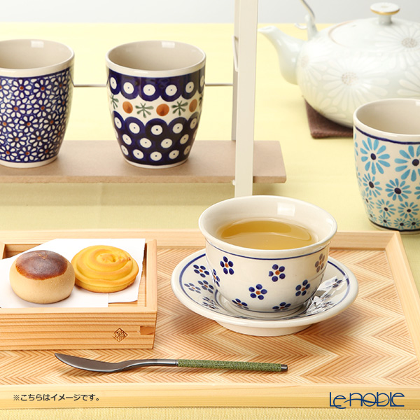 Polish Pottery Boleslawiec '166A-GU716/2014' Japanese Tea Cup & Saucer 110ml