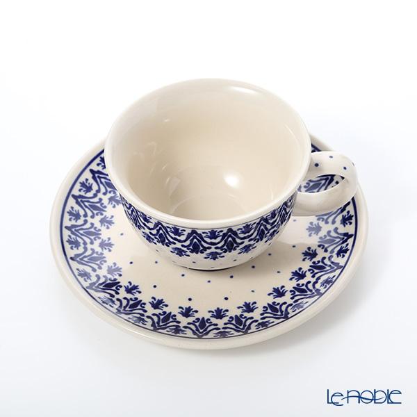 Polish Pottery Boleslawiec '1169-GU775/836' Tea Cup & Saucer 220ml