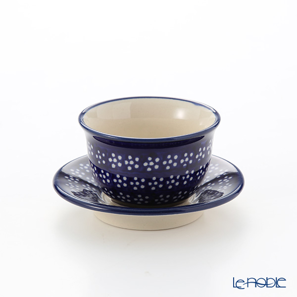 Polish Pottery Boleslawiec '226A-GU716/2014' Japanese Tea Cup & Saucer 110ml