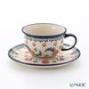 ポーリッシュポタリー(ポーランド陶器) ボレスワヴィエツティーカップ&ソーサー 220ml/16cm 775/836/1072A