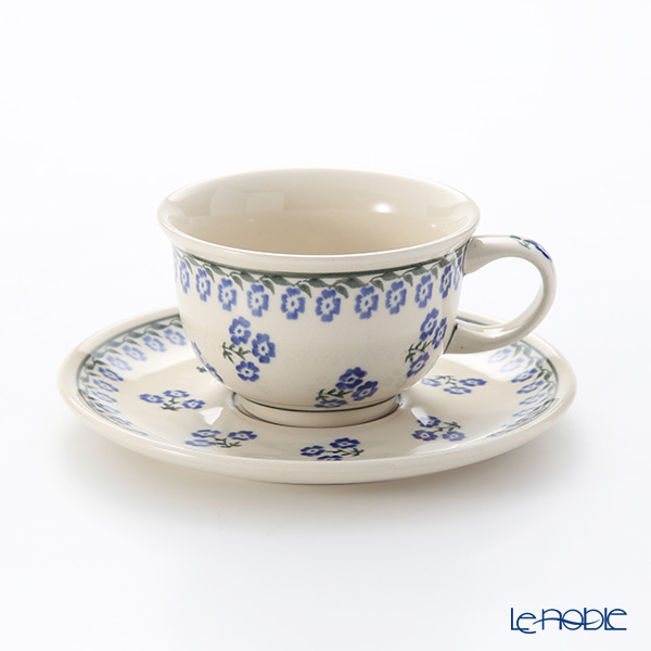 Polish Pottery Boleslawiec '1171-GU775/836' Tea Cup & Saucer 220ml