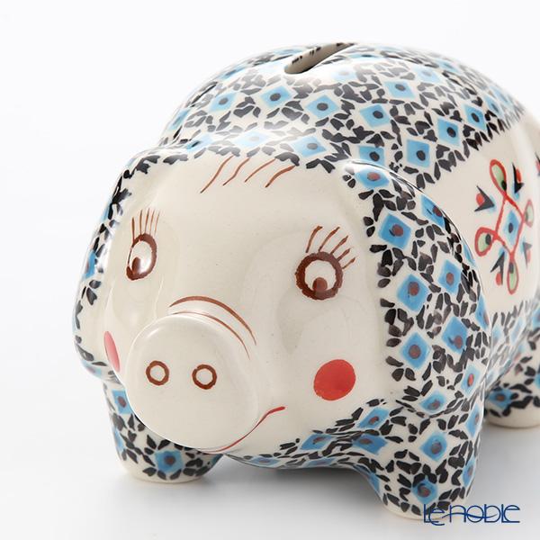 Polish Pottery Boleslawiec '1220-GU1815' Piggy Bank 15.5x10xH9.5cm